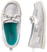 Osh Kosh OshKosh Silver Sparkle Boat Shoes