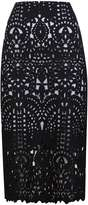 Sapphire Black Lace Pencil Skirt