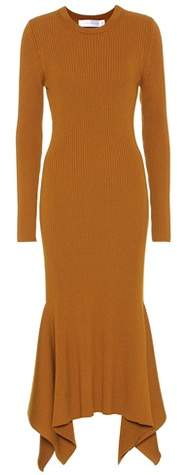 Victoria Beckham Ribbed virgin wool dress
