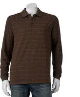 Haggar Men's Classic-Fit Windowpane Jacquard Polo