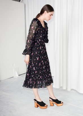 And other stories Wrap Ruffle Midi Dress