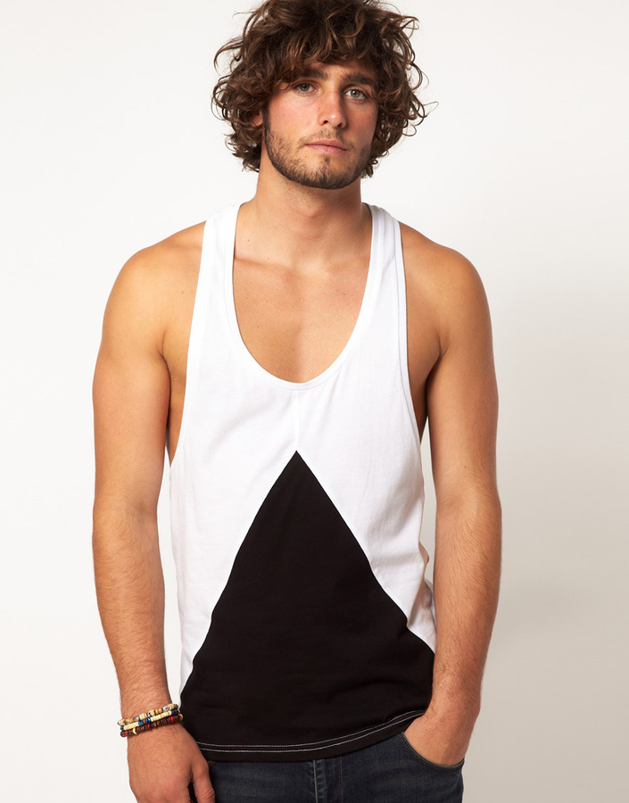 Asos Tank With Triangle Insert