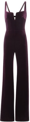 Galvan Velvet wide-leg jumpsuit