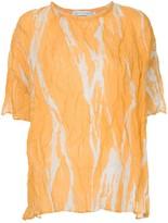 CHRISTOPHER ESBER ruched shortsleeved blouse
