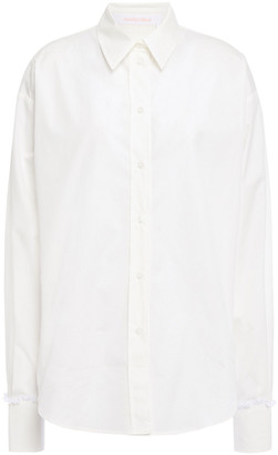 See by Chloe Lace-trimmed Cotton-poplin Shirt