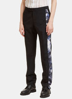 Yang Li Men's Creased Tie Dye Seam Straight Leg Pants In Black