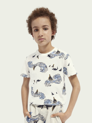 Scotch & Soda Short-sleeved printed pique T-shirt | Boys
