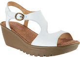Skechers Leather Open Toe Cut-out Wedges - Structure