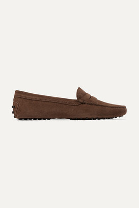 Tod's Gommino Suede Loafers - Brown