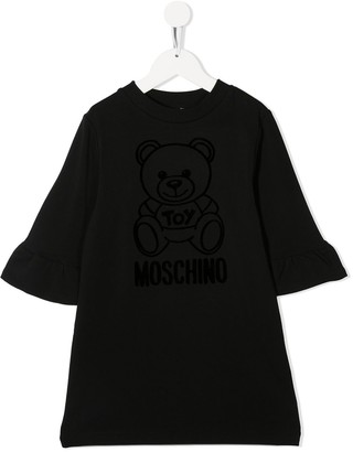 MOSCHINO BAMBINO Teddy Bear Shift Dress