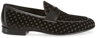 Saks Fifth Avenue COLLECTION BY MAGNANNI Dotted Velvet Loafers