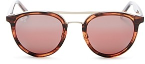 Maui Jim Women's Sunny Days Polarized Brow Bar Round Sunglasses, 49mm