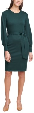 Calvin Klein Balloon-Sleeve Sweater Dress