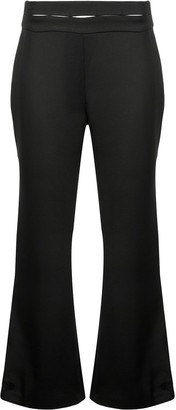 Alexis High-Waisted Flared Trousers