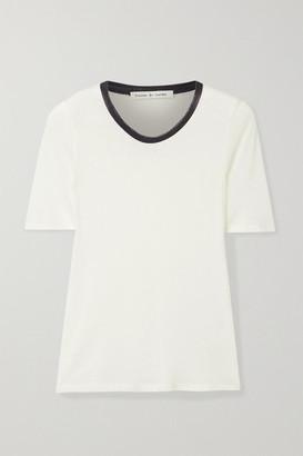 FRANCES DE LOURDES Serge Slub Cashmere And Silk-blend T-shirt - Cream