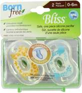 Born Free Bliss Pacifier by 0-6 months, 2 pack
