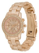 Merona Women's Boyfriend Watch with Rhinestones - Rose Gold