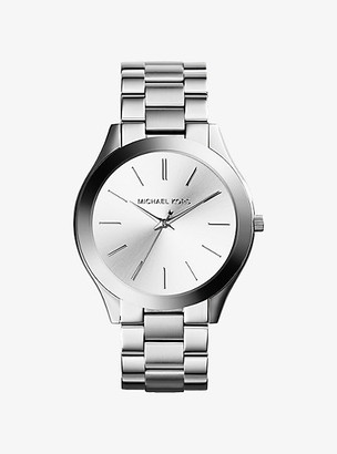 Michael Kors Slim Runway Silver-Tone Watch - Silver