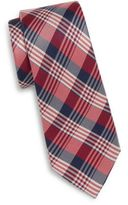 Saks Fifth Avenue Tri-Plaid Silk Tie