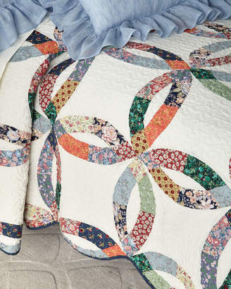 C&F Home Heritage Wedding Ring Twin Quilt Set