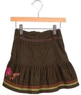 Kenzo Girls' Corduroy Floral Skirt