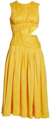 Aje Cascade Cut Out Dress