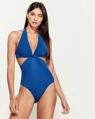 Kate Spade Knotted Cutout One-Piece Swimsuit
