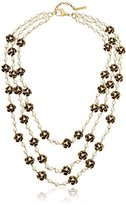 Marc Jacobs Pearl Flower Necklace, 23""