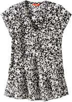 Joe Fresh Women's V-Neck Silk Blouse, Black 3 (Size XS)