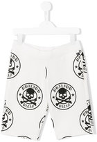Philipp Plein skull print shorts - kids - Cotton - 8 yrs