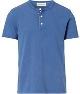 Denim & Supply Ralph Lauren Flag Placket Henley T-shirt, Pottery Blue