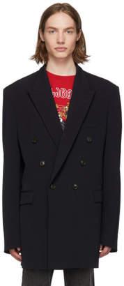Vetements Navy Open Sleeve Blazer
