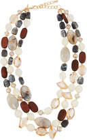 Greenbeads by Emily & Ashley Triple-Strand Crystal Statement Necklace