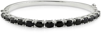 Sterling Silver 9.30 cttw Black Sapphire Bangle