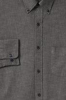 Classic Men's Traditional Fit Buttondown Chambray Shirt-Black