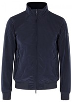 Emporio Armani Navy Concealed Hood Shell Jacket