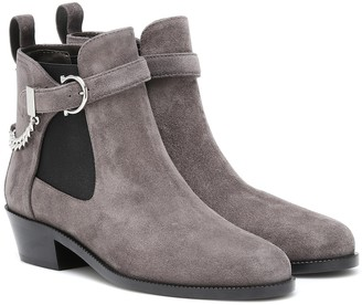 Salvatore Ferragamo Gancini suede ankle boots