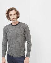 MONTY Printed crew neck sweater