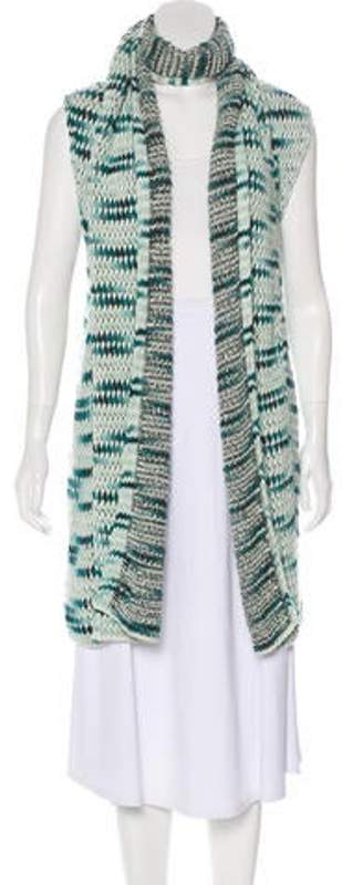 Missoni Cashmere-Blend Sleeveless Cardigan Blue Cashmere-Blend Sleeveless Cardigan
