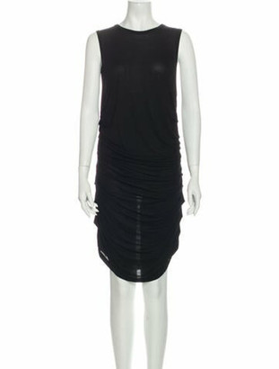 Dolce & Gabbana Crew Neck Knee-Length Dress Black
