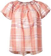 Ulla Johnson off-shoulder plaid blouse - women - Cotton - 6