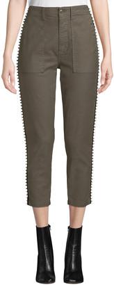 Joie Kirtana Studded Cropped Utility Pants