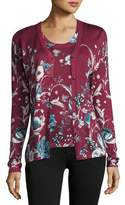 Roberto Cavalli Forbidden Fruit V-Neck Cardigan, Wine