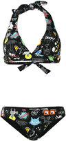 Fendi space print bikini - women - Polyamide/Spandex/Elastane - 38