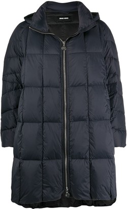 Ienki Ienki Pyramie quilted A-line coat
