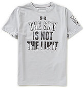 Under Armour Big Boys 8-20 The Sky Is Not The Limit Short-Sleeve Graphic Tee