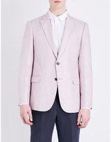 Armani Collezioni Bamboo Modern-fit Woven Jacket