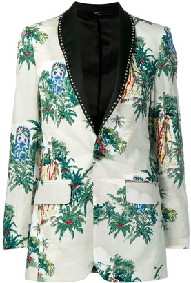 R 13 tropical pattern blazer