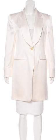 Giorgio Armani Knee-Length Satin Coat w/ Tags
