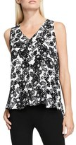 Vince Camuto Women's Lace Print Sleeveless Blouse